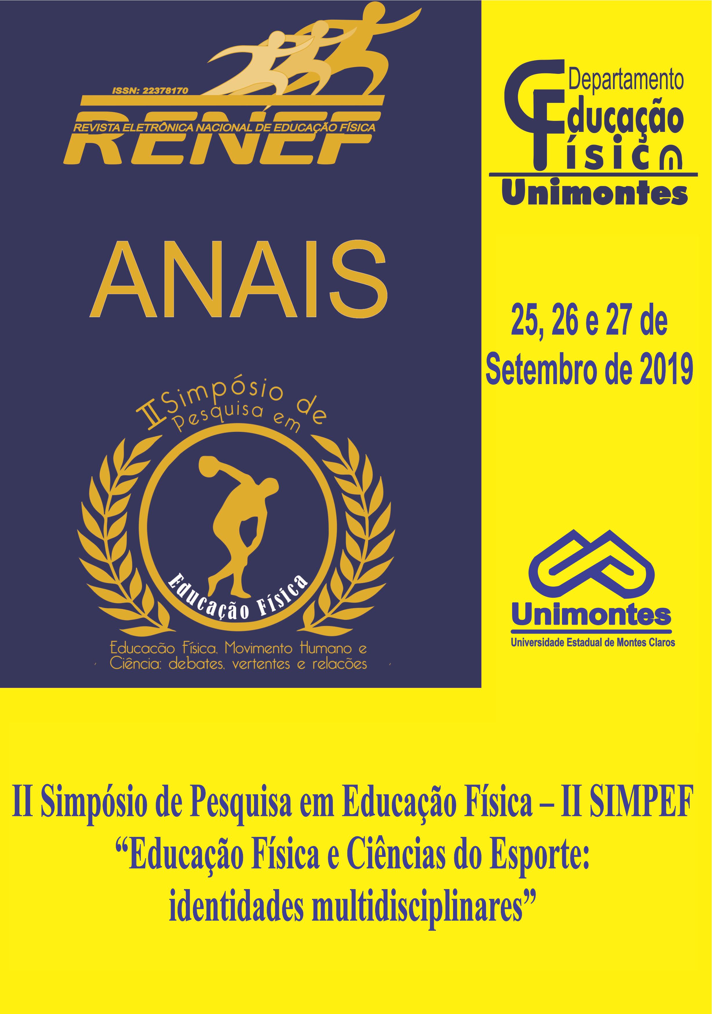 Visualizar v. 2 n. 2 (2019): EDIÇÃO ESPECIAL - ANAIS DO II SIMPÓSIO DE PESQUISA EM EDUCAÇÃO FÍSICA