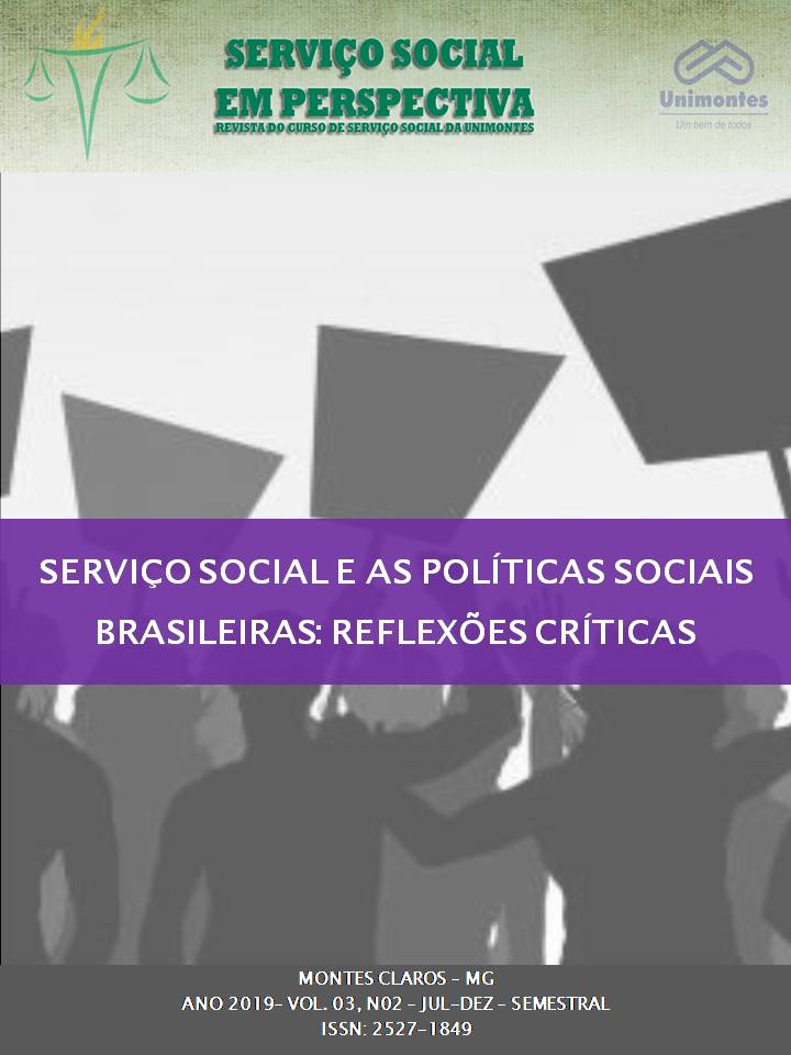 Visualizar v. 3 n. 2 (2019): SERVIÇO SOCIAL E AS POLÍTICAS SOCIAIS BRASILEIRAS: REFLEXÕES CRÍTICAS